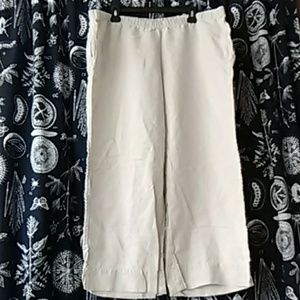 """""""J.Jill """"100% Linen Cropped Pant"""
